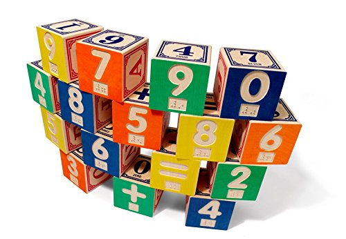 - Uncle Goose Braille Math Blocks - Made in USA