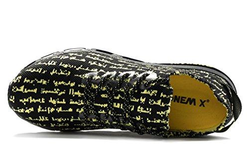 Sneakers Upper Knit Jogging Retro Onemix yellow Absorber Print Shock Lightweight Black Outdoor qAzExHnt4