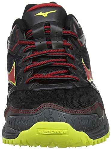 Mizuno Wave Daichi 3, Scarpe da Running Uomo Multicolore (Black/Formulaone/Flash)