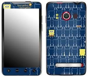 MusicSkins, MS-SBSB30132, SpongeBob by SpongeBob - Iconic Blue, HTC Evo 4G, Skin