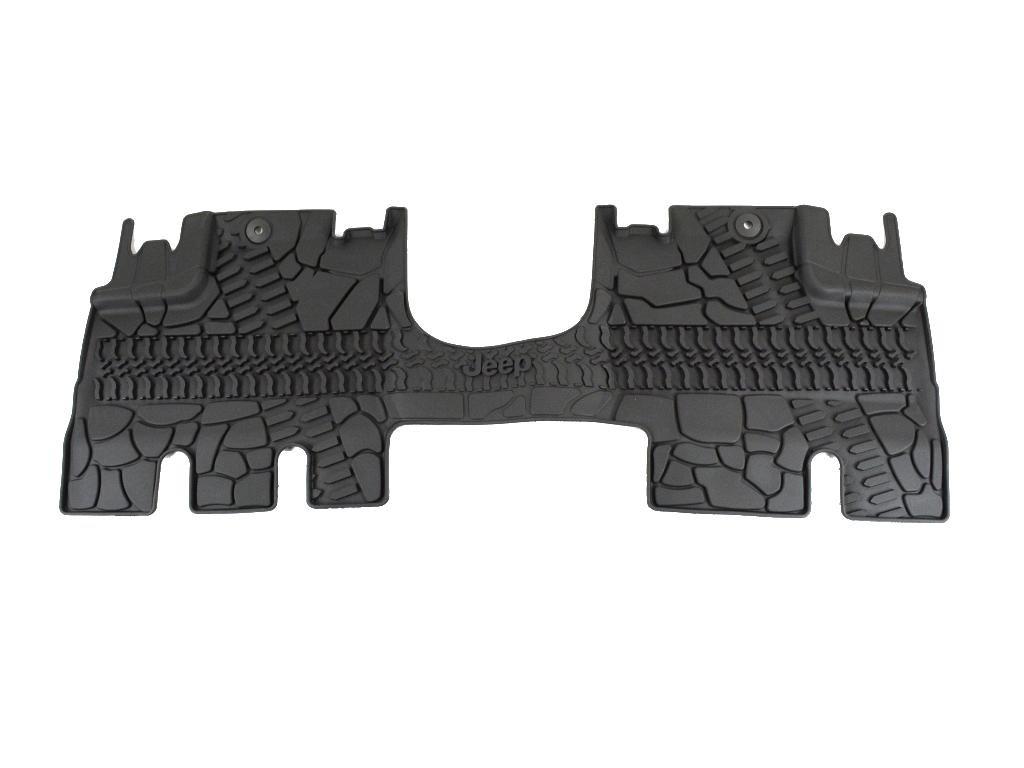 Mopar 82213860 Jeep Wrangler Unlimited 4-Door Black All-Weather 3-Piece Floor Mat Set
