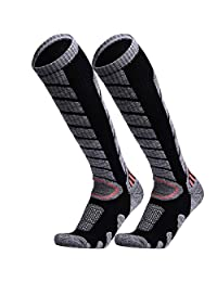 WEIERYA Ski Socks 2 Pairs Pack for Skiing, Snowboarding Performance Socks