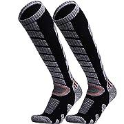 WEIERYA Ski Socks 2 Pairs Pack for Skiing, Snowboarding, Outdoor Sports Performance Socks