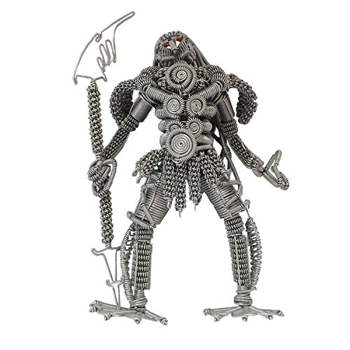 - RAAYA Sculpture Metal Predator, Medium, Metal Hair, Scrap Metal Art Model - Collectible Art