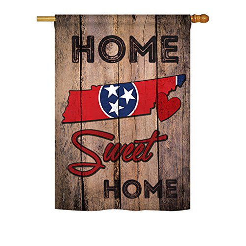 State Tennessee Home Sweet Home – Americana States Decoration – 28″ x 40″ Impressions House Flag by Ornament Collection – US made For Sale