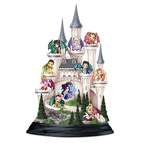 Jasmine Becket Griffith Castle And 10 Fairy Figurines: Castle Of Dragon's Keep by The Hamilton Collection (Becket Fairies Griffith Jasmine)