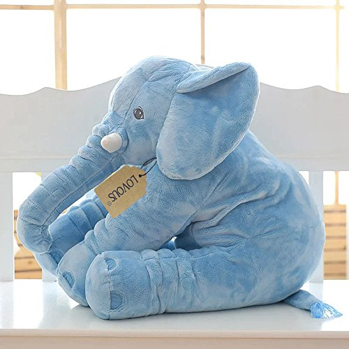 Cute Big Pillows : Super Soft Cute Big Stuffed Elephant Plush Doll Pillows, Baby Elephants Toys (Blue) ? Toy and ...