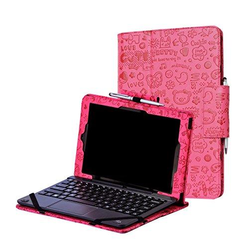i-UniK CASE for RCA 10 Viking Pro 10.1 & Compatible RCA 10 Viking II Tablet PC [Bonus Stylus] - (Cute Pink)