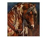 Custom Indian War Horse Japanese Noren Doorway Curtain Door and Window Curtain Tapestry Size 85x90cm For Sale