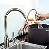 MDRW-Kitchen Faucet Hot And Cold Water Double Water Outlet All Copper Pulling Type Telescopic Dish Basin Water Tank Faucet