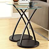 Monarch Specialties Cappuccino Bentwood Nesting Table Set, 2-Piece