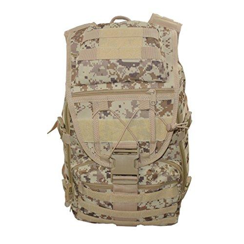 Kenny Walker Tactical Camo Backpack Outdoor Military Assault Molle Swordfish Rucksack Waterproof for Men and Women (Desert Digital Camouflage)