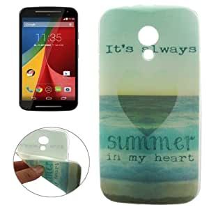 Always Summer It Is In My Heart Pattern Transparent Edge TPU Protective Case Cover Carcasa Para Motorola Moto G