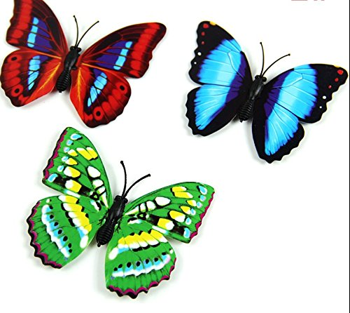 Kofun Butterfly frigorifero Sticker, 3d Magnetic Butterfly Home Camera da letto adesivo da parete frigo Windows Decorativa fai da te, 10 Pcs, 4 cm