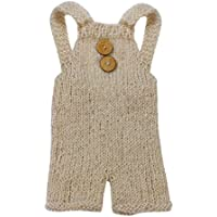Sunward Newborn Baby Photography Mohair Overalls Props Boy Girl Photo Shoot Clothes For 0-6 Months