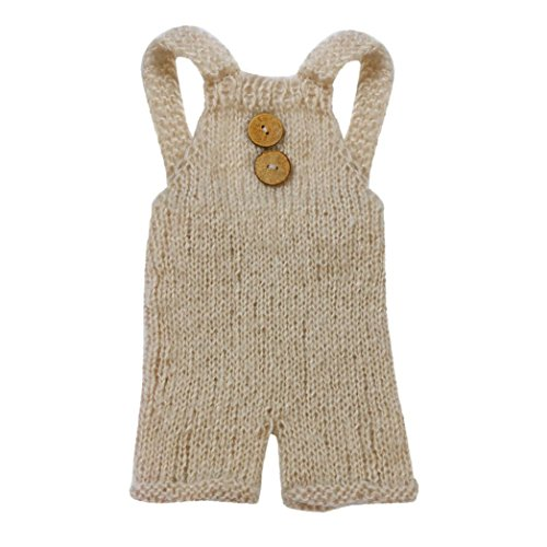 Sunward Newborn Baby Photography Mohair Overalls Props Boy Girl Photo Shoot Clothes For 0-6 Months, ()