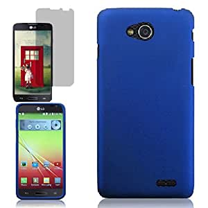 [ARENA] SKY BLUE SOLID RUBBERIZED RIGID COVER SNAP ON HARD CASE for LG L90 TMOBILE + FREE SCREEN PROTECTOR