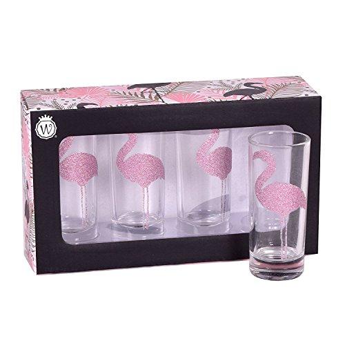 Wild Eye Designs Shot Glass Set Flamingo (Set of 4)