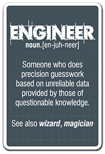 Engineer Guess Work Sign Work Engineering Student Job | Indoor/Outdoor | 12