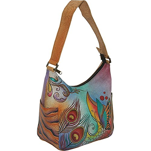 Anuschka Women's Collage Classic Hobo With Side Pockets