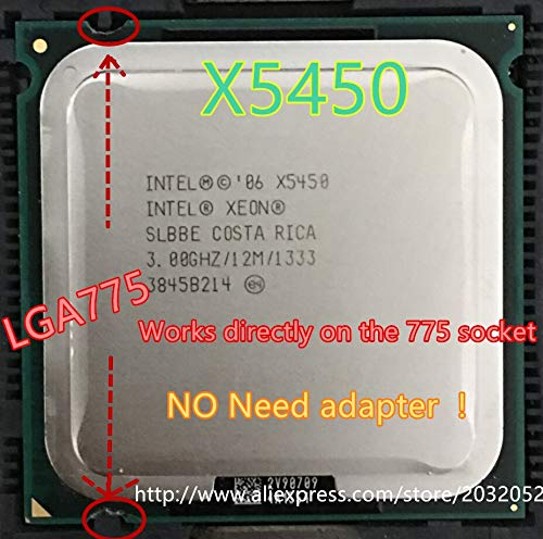 Cailiaoxindong Xeon X5450 3.0GHz 12M 1333Mhz CPU Equal to LGA775 Core 2 Quad Q9650 CPU,Works on LGA775 mainboard no Need Adapter in Stock