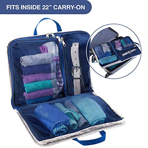 Lewis N. Clark Packing Cube + Hanging Travel Organizer for Luggage, Suitcase or Carry On, W/Smart Design grab Handle & Breathable Mesh, ()