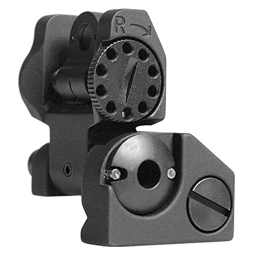 Troy Rear Sight - Troy Industries Folding Tritium Battle Sight Rear (Black)