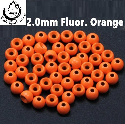Tungsten Beads for Fly Tying - 50Pack (Fluor. Orange, ()