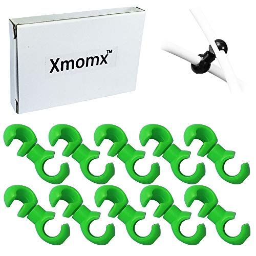 (Xmomx 10 pcs Rotating S-Hook Clips Hook Shift Cable Brake Gear Cable Housing Fixing Holder Guide Cycling Bike Bicycle MTB (Green))