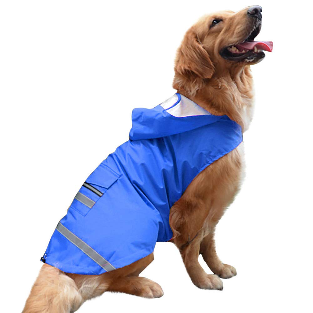 5XL Pet Dog Rain Coat Clothes Dog Puppy Casual Waterproof Jacket Costumes Plus Size 3XL-5XL Rain Coat for Dog Clothes Rain