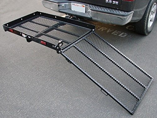 Durable Folding Strong Hitch Carrier Mobility Easy To Lift Us For Loading Ramp Scooter Loading Ramp Electric Wheelchair Total Weight Of Carrier 71 Lbs