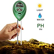 #LightningDeal 90% claimed: Covery Soil Tester Moisture Meter, Light and PH acidity Tester, Plant Tester for Garden, Farm, Lawn, Indoor & Outdoor (No Battery needed) Easy Read Indicator
