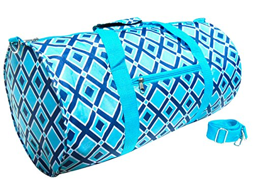 Perfect Turquoise Blue Diamond Weird Kit Soft Weekender Barrel Gym Duffel Bag Unique Fun Birthday Quirky Supplies Xmas Top Christmas Themed Present Gift Idea for Daughter Unisex Kid Girl Dad Mom Youth Themed Christmas Presents