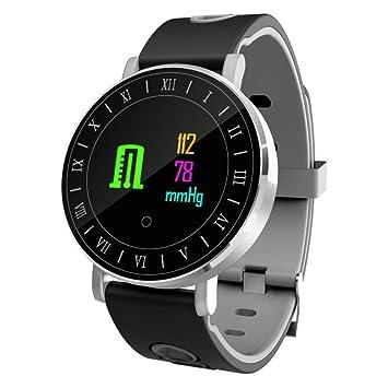 1.0 Pulgadas Pantalla OLED Deportes Cómodos Smartwatch Relojes Inteligentes con iOS Android iPhone 8 X Samsung S8 S9 Note 5,White: Amazon.es: Deportes y ...