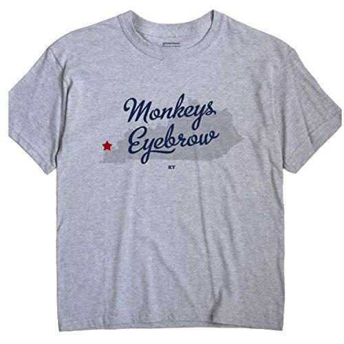 Kentucky Monkey - Monkeys Eyebrow Kentucky KY MAP GreatCitees Unisex Souvenir T Shirt