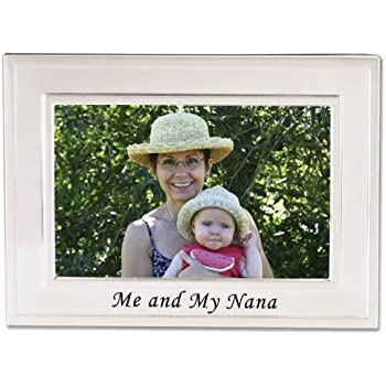lawrence frames sentiments collection brushed metal 4 by 6 me and my nana picture frame - Nana Picture Frame