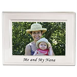 Lawrence Frames Sentiments Collection, Brushed Metal 4 by 6 Me and My Nana Picture Frame