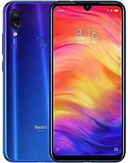 Xiaomi Redmi Note 7 Smartphones de 6.3'' pantalla completa, 4GB RAM + 64GB ROM, Snapdragon 660 procesador Octa-core, 13MP delantero y 48MP + 5MP doble cámara trasera Teléfonos móviles (Degradado Azul)