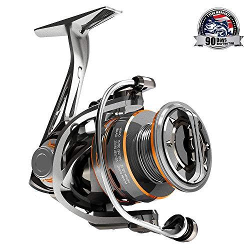 CS8 Spinning Reels,Ultralight Premium Magnesium Frame Fishing Reel with 9+1 Corrosion Resistant Bearings Smooth Powerful Fishing Reel Spinning with 19Lb Carbon Fiber Drag & 6.2:1 Gear Ratio Reels