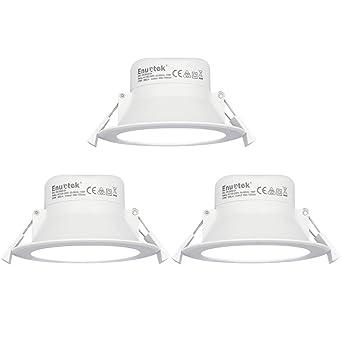 Luces Focos LED Empotrables Lamparas de Techo Downlights LED 10W Blanco Frío 5000K Ø90-105mm