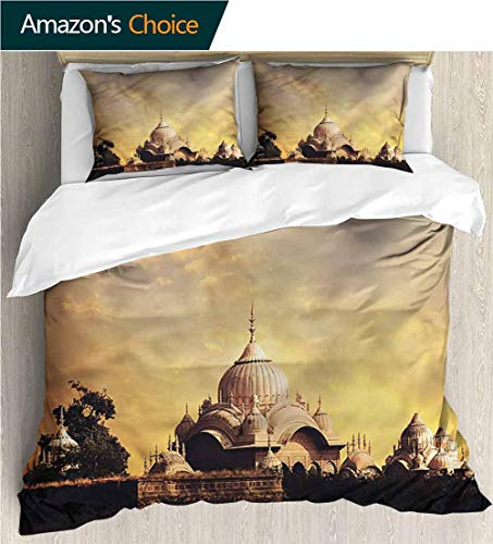 VROSELV-HOME Modern Pattern Printed Duvet Cover,Box Stitched,Soft,Breathable,Hypoallergenic,Fade Resistant Soft Microfiber Bedspread Coverlet Bedding-Imperial Palace Old Monument (87