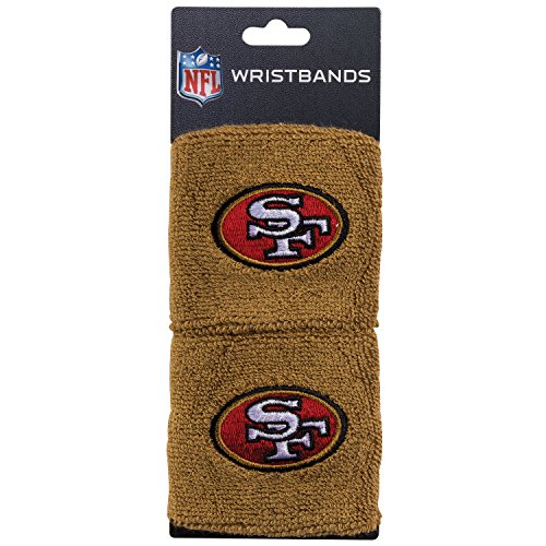 Franklin Sports San Francisco 49ERS Wristbands - 2.5