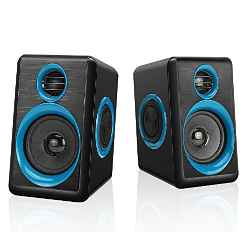 Multimedia Pc Laptop - Computer Speakers With Heavy Bass,Subwoofer, Volume Control, 3.5mm Audio, USB Wired Powered Built-in Four Loudspeaker Diaphragm Multimedia Speaker for PC/Laptops/desktop/ASUS/ACER Computer (BLUE)