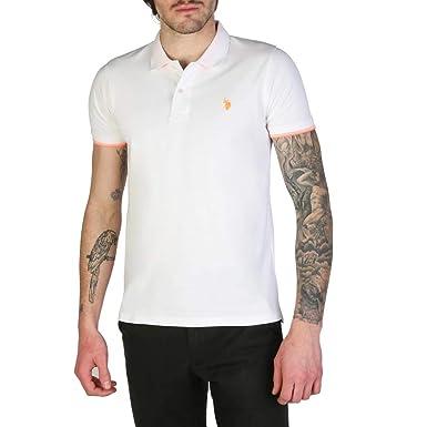 U.S. Polo Polo 52432_41029 Hombre Color: Blanco Talla: XL: Amazon ...