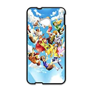 Personal Phone Case Digital Monster For HTC One M7 LJS2254