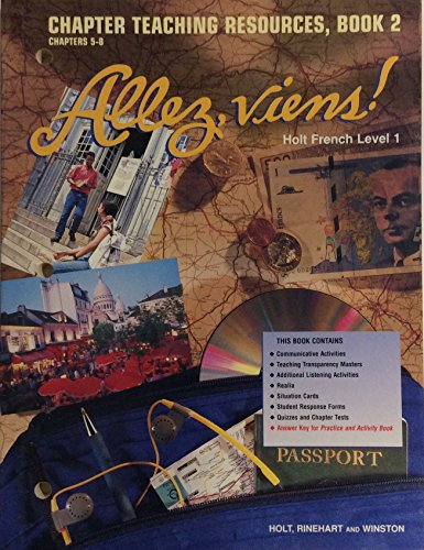- Allez, Viens! Holt French Level 1: Chapter Teaching Resources, Book 2 Chapters 5-8 (Paperback)