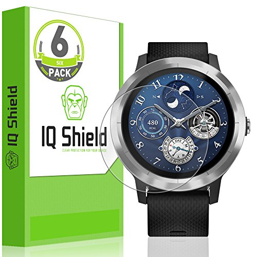 IQ Shield Screen Protector Compatible with Garmin Vivoactive 3 (6-Pack)(Full Coverage) LiquidSkin Anti-Bubble Clear Film