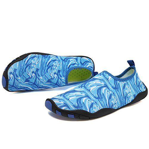 Cior Multifunzionale A Piedi Nudi Scarpe Da Uomo Donne Quick-dry Scarpe Da Acqua Aqua Calze Per Piscina Da Spiaggia Surf Yoga Light Blue03