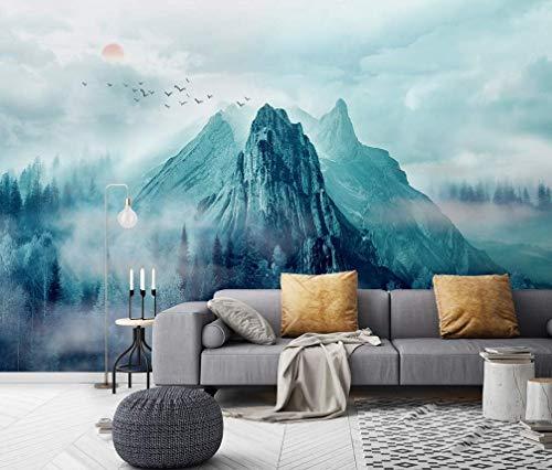 Amazon Com Murwall Mountain Wallpaper Misty Forest Wall Mural