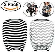 R • HORSE Nursing Breastfeeding Cover Scarf - Baby Car Seat Canopy, Shopping Cart, Stroller, Carseat Covers for Girls and Boys - Best Multi-Use Infinity Stretchy Shawl (2 pack)